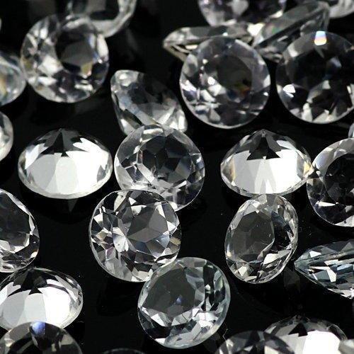 Natural White Topaz 7 MM Round Cut Loose Gemstone Lot