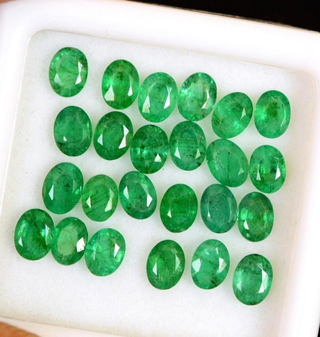 Natural Emerald 4x3 MM Oval Cut Green Loose Gemstone