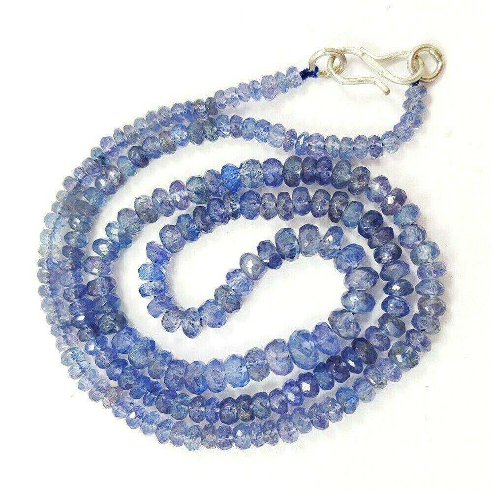 TANZANITE FACETED ROUND BEADS NECKLACE