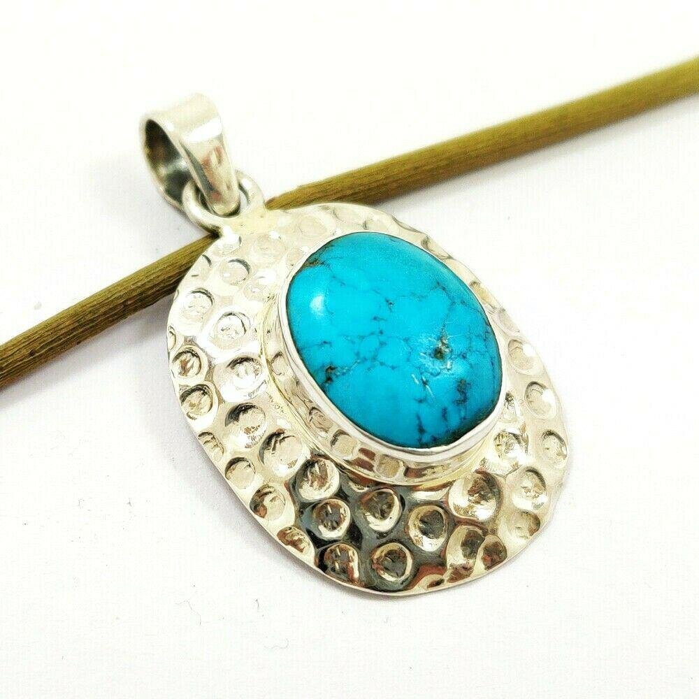 Beautiful Natural Turquoise Handmade 92.5 Sterling