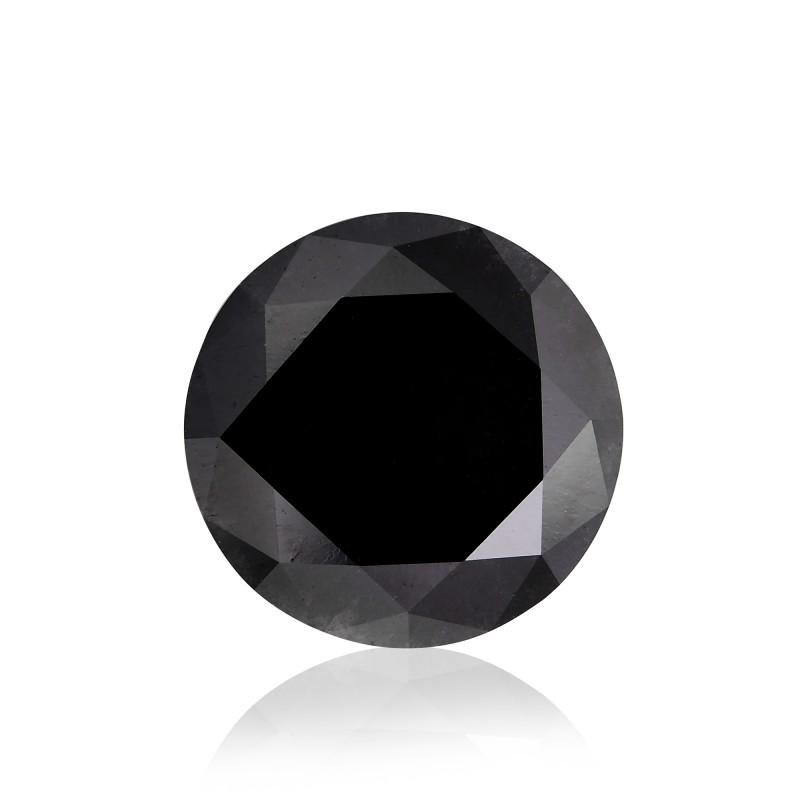 IGITL Cert. Natural Round Black Diamond 1.52 Cts
