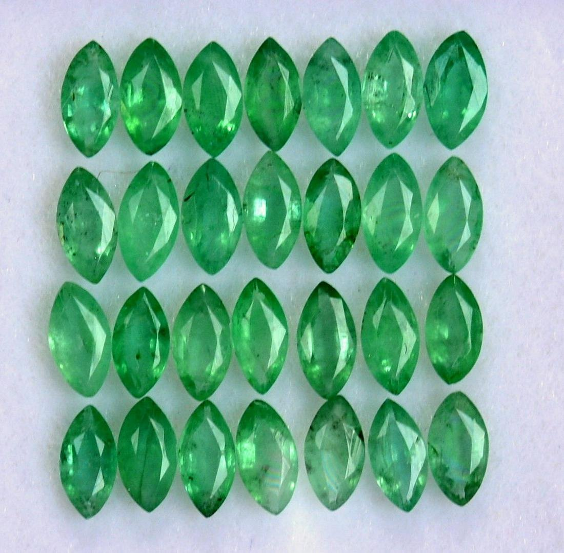 Natural Emerald 2.5x5 MM Marquise Cut Green Loose