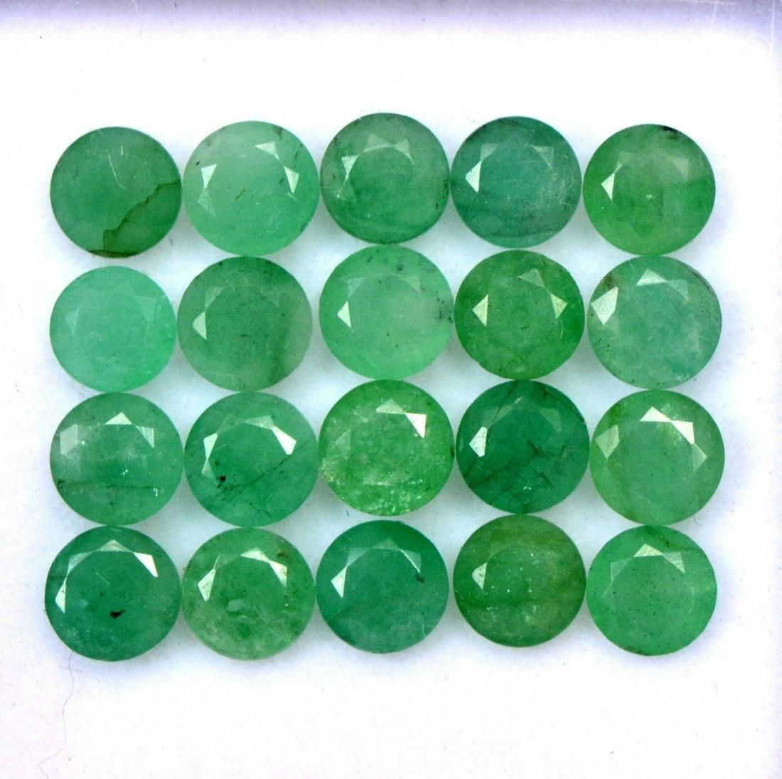 Natural Emerald 5 MM Round Cut Green Loose Gemstone Lot