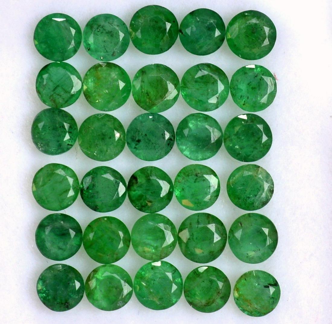 Natural Emerald 4 MM Round Cut Green Loose Gemstone Lot
