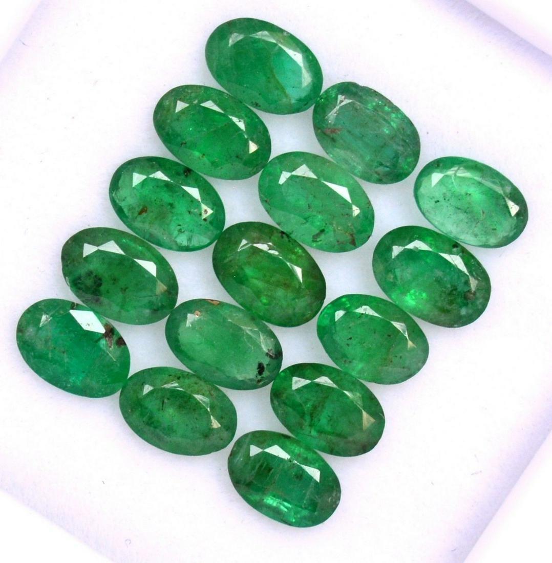 Natural Emerald 6x4 MM Oval Cut Green Loose Gemstone