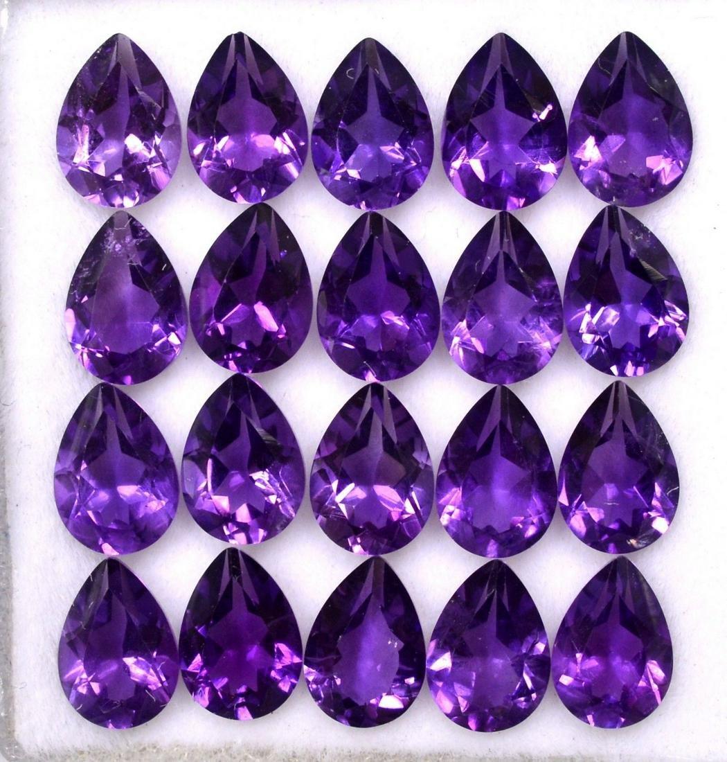 Natural Purple Amethyst 7x5 MM Pear Cut Loose Gemstone