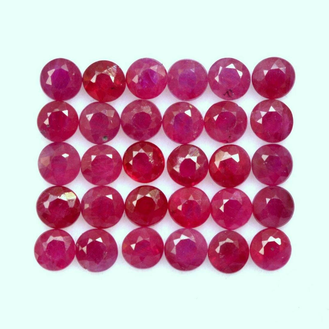 Natural Red Ruby 3.5 MM Round Cut Loose Gemstone Lot