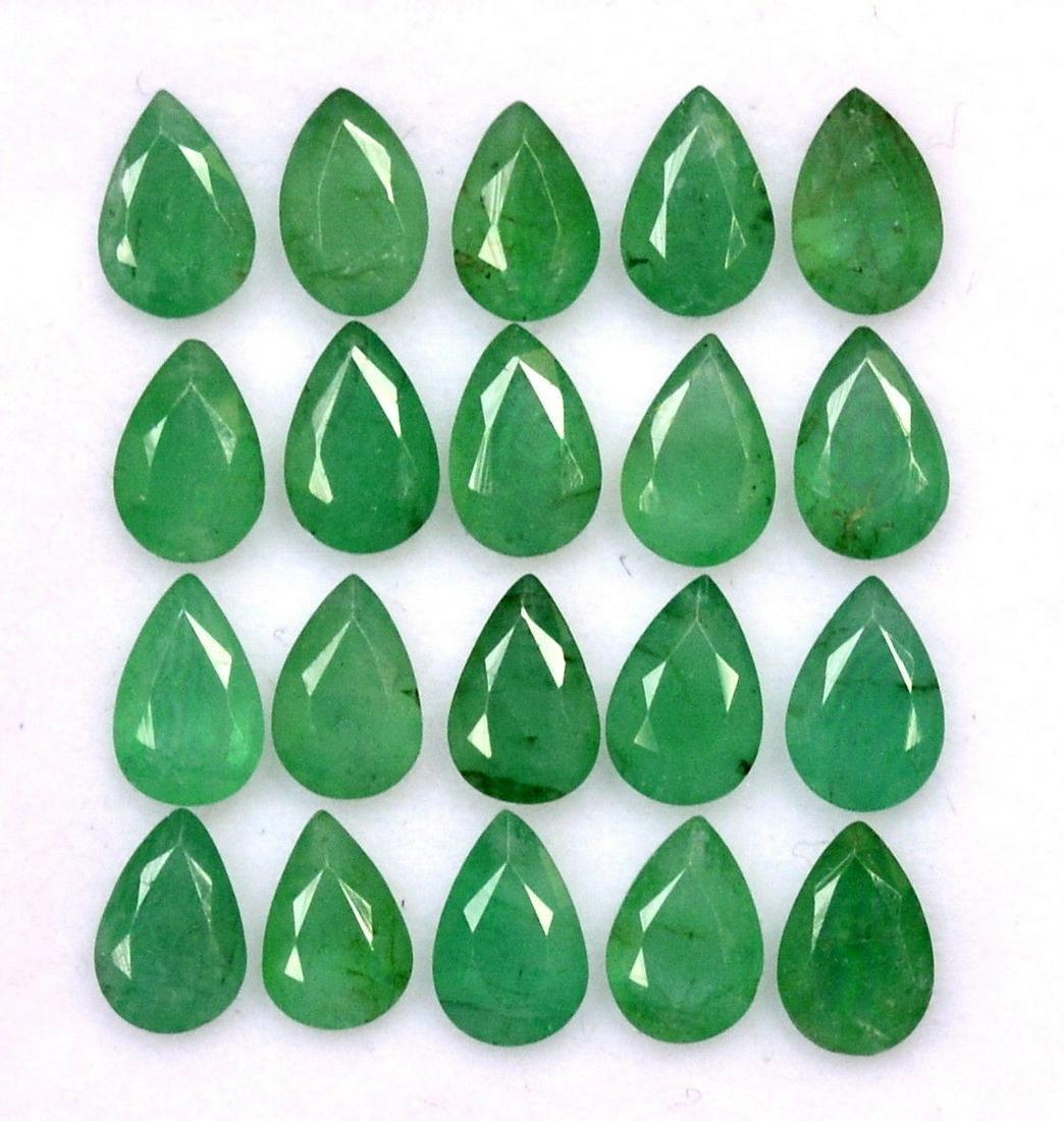 Natural Emerald 6x4 MM Pear Cut Green Loose Gemstone