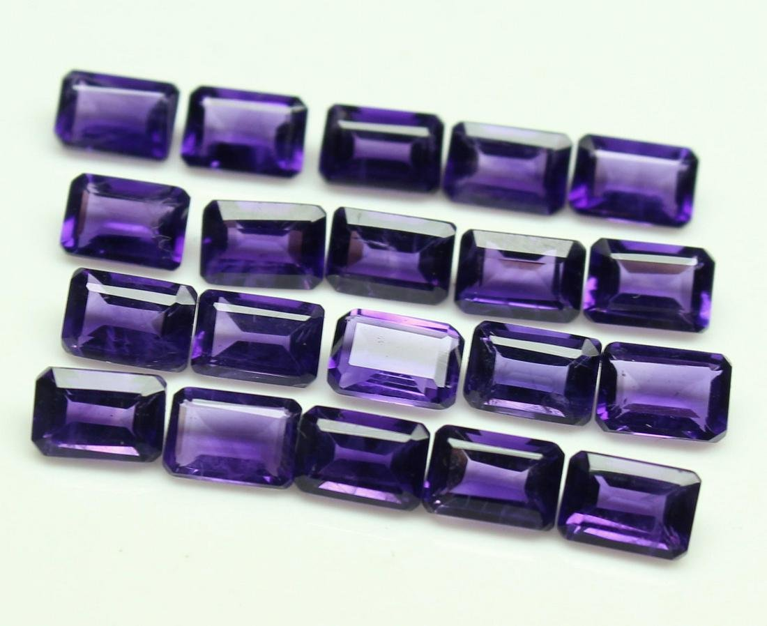Natural Purple Amethyst 6x8 MM Octagon Cut Loose