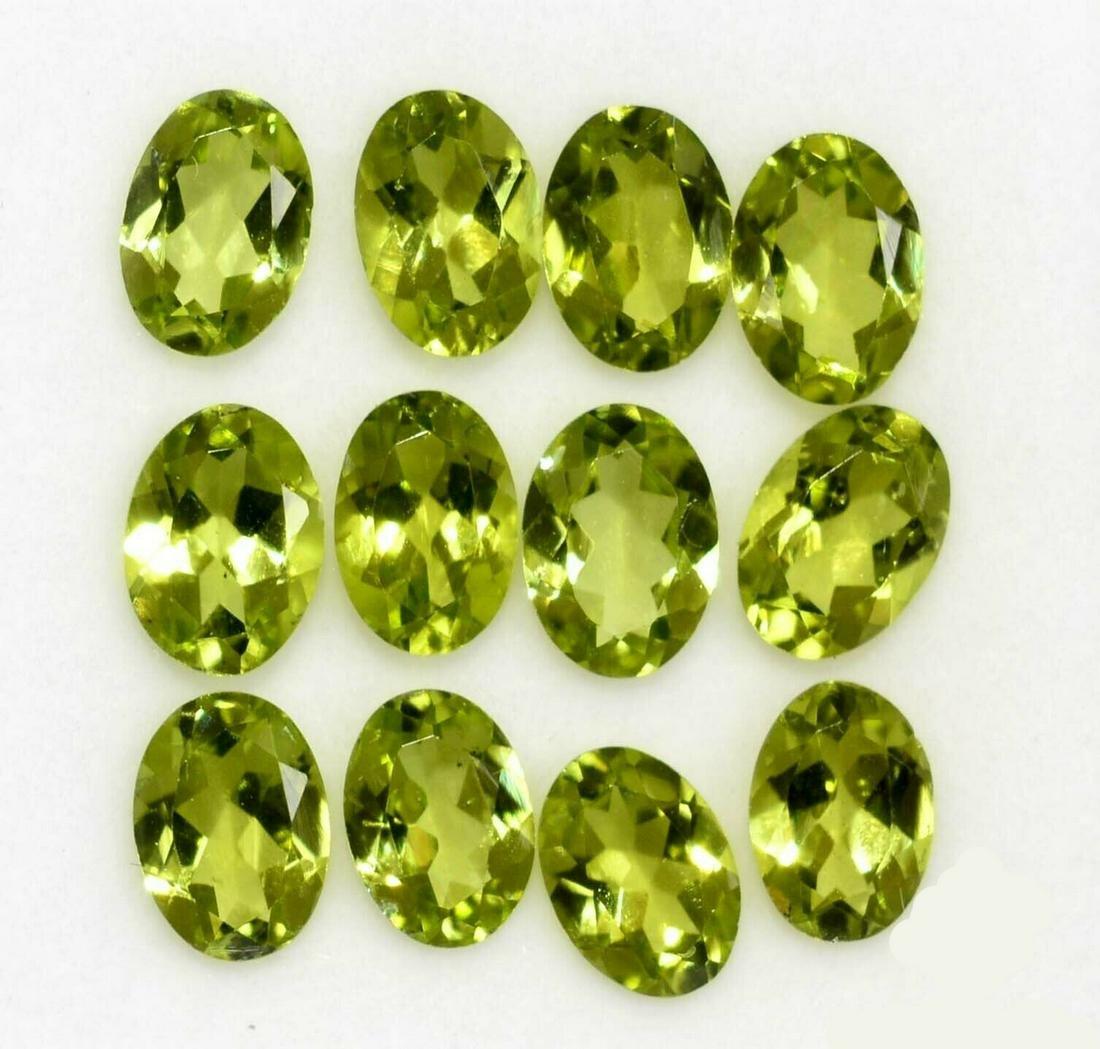 Natural Green Peridot 6x4 MM Oval Cut Loose Gemstone