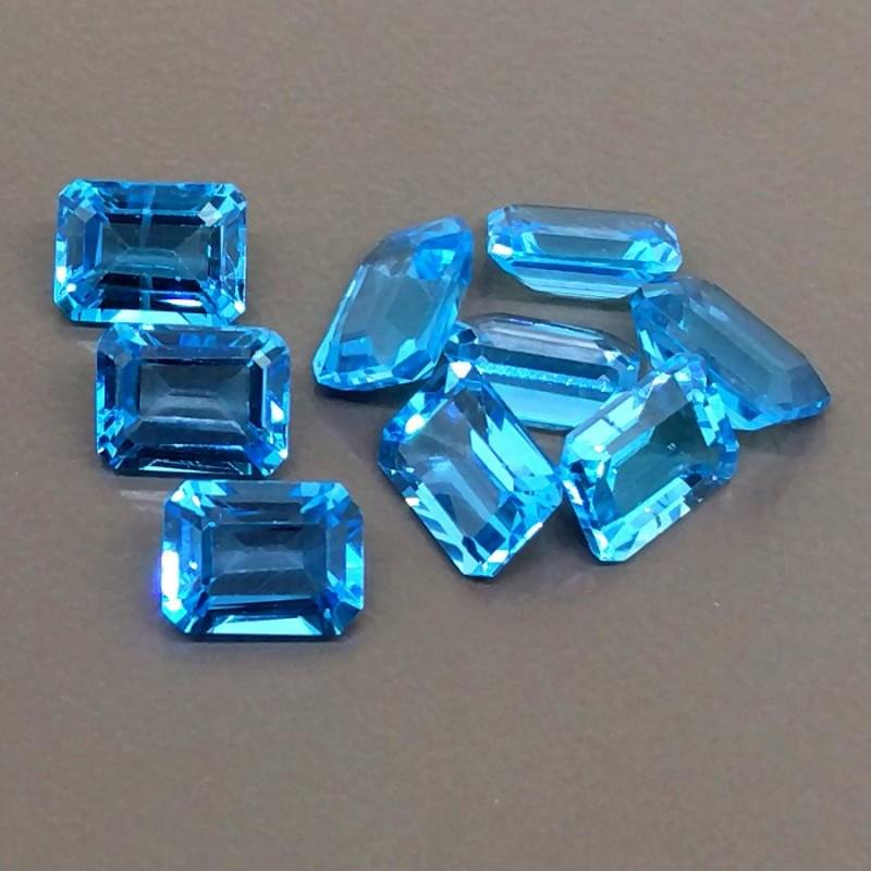 Natural Blue Topaz 6x4 MM Octagon Cut Loose Gemstone