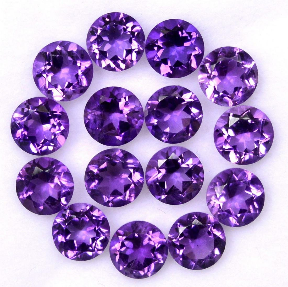 Natural Purple Amethyst 9 MM Round Cut Loose Gemstone