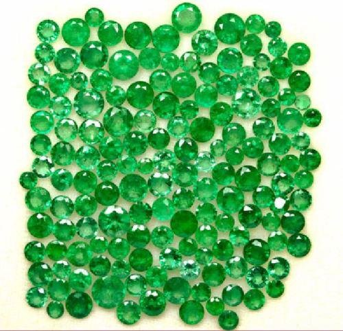 WHOLESALE LOT NATURAL EMERALD 3 MM TO 6.50 MM ROUND CUT