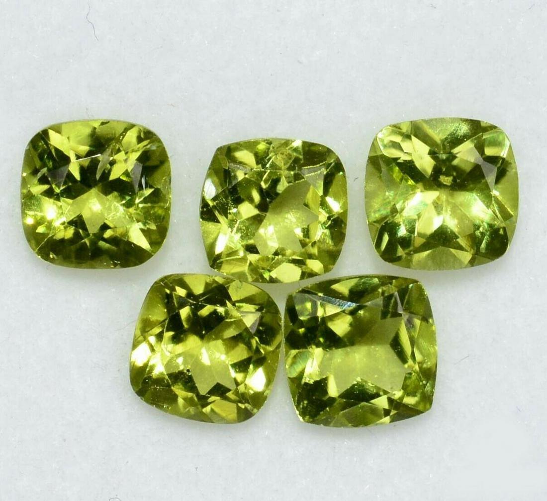 Natural Green Peridot 5x5 MM Cushion Cut Loose Gemstone