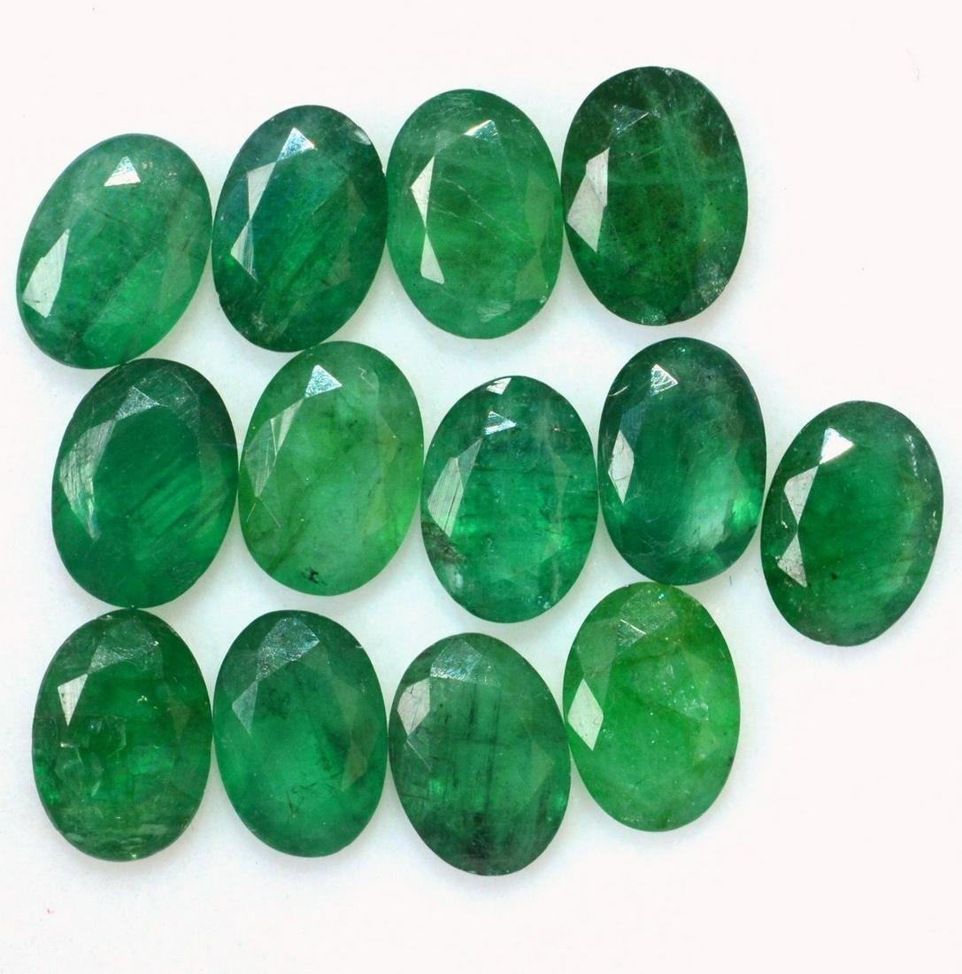 Natural Emerald 7x5 MM Oval Cut Green Loose Gemstone