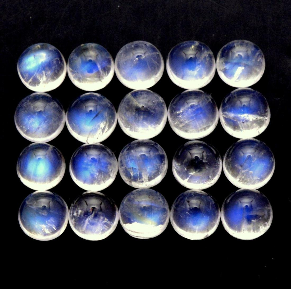 Blue Fire Rainbow Moonstone 4 MM Round Cabochon Loose