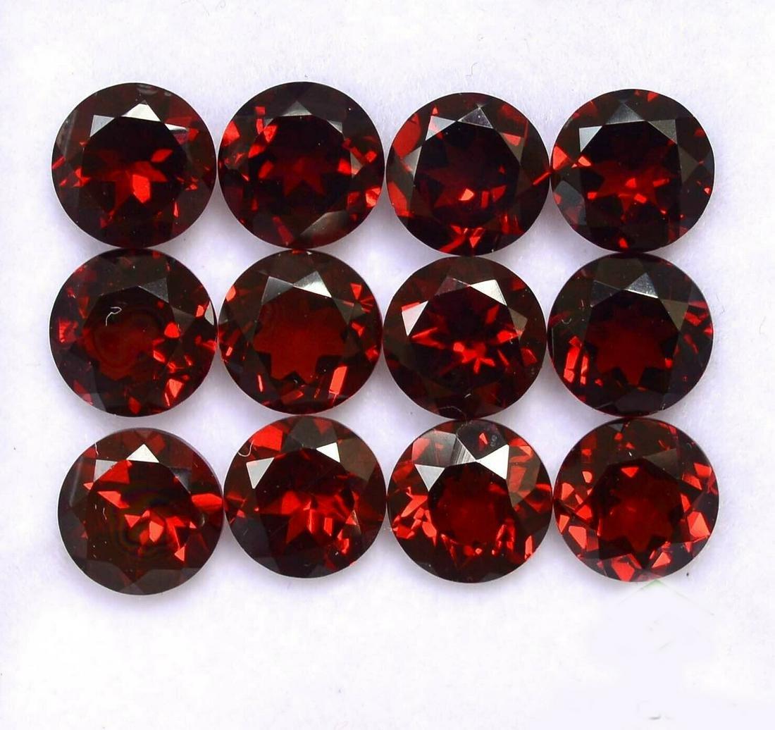 Natural Red Garnet 5.5 MM Round Cut Loose Gemstone Lot