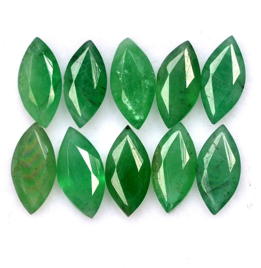 Natural Emerald 3.5x7 MM Marquise Cut Green Loose
