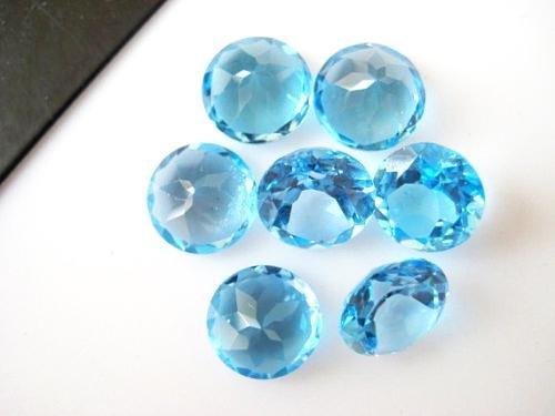 Natural Blue Topaz 9 MM Round Cut Loose Gemstone Lot