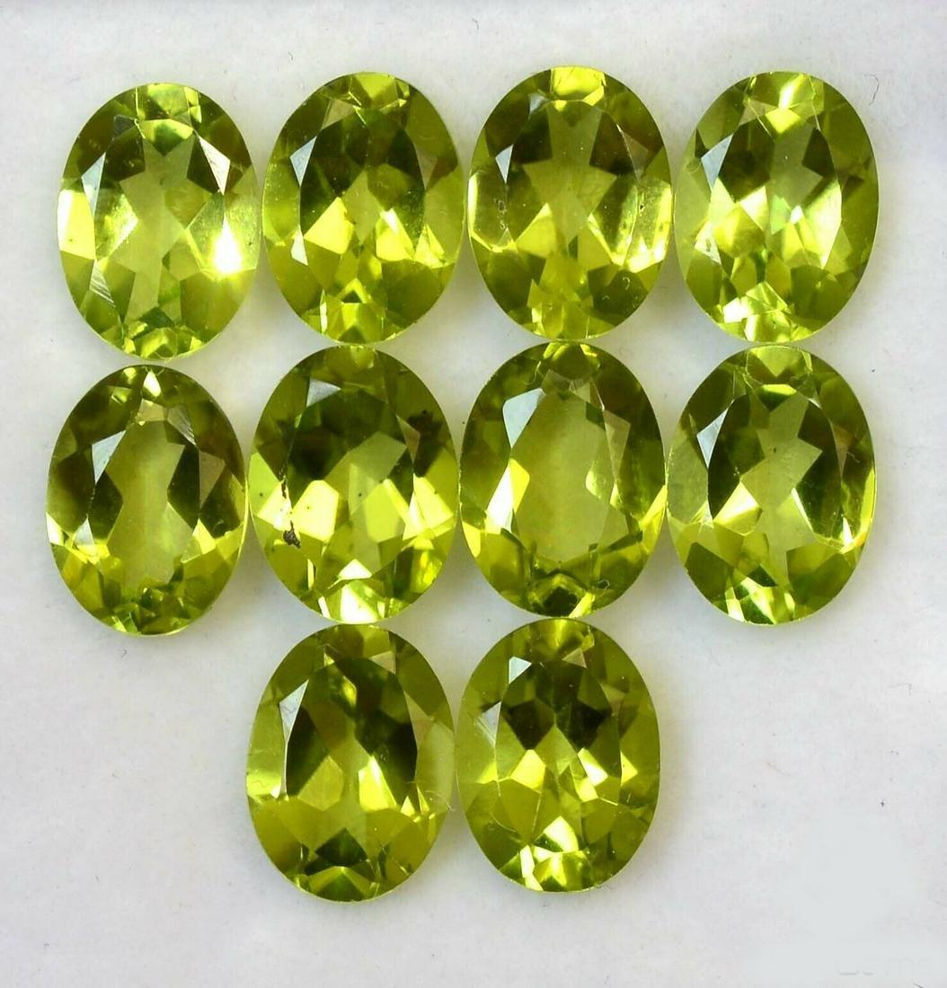 Natural Green Peridot 7x5 MM Oval Cut Loose Gemstone