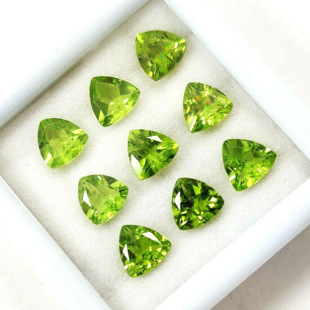 Natural Green Peridot 7x7 MM Trillion Cut Loose