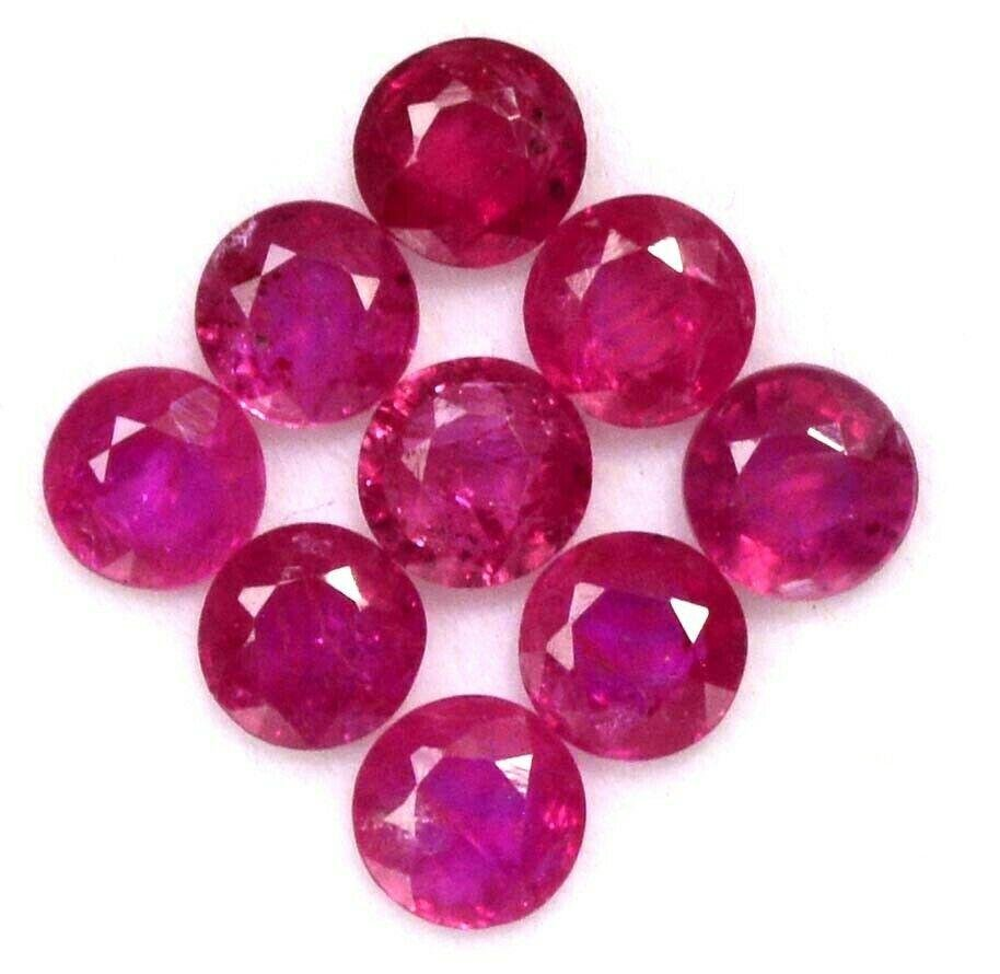 Natural Red Ruby 5 MM Round Cut Loose Gemstone Lot