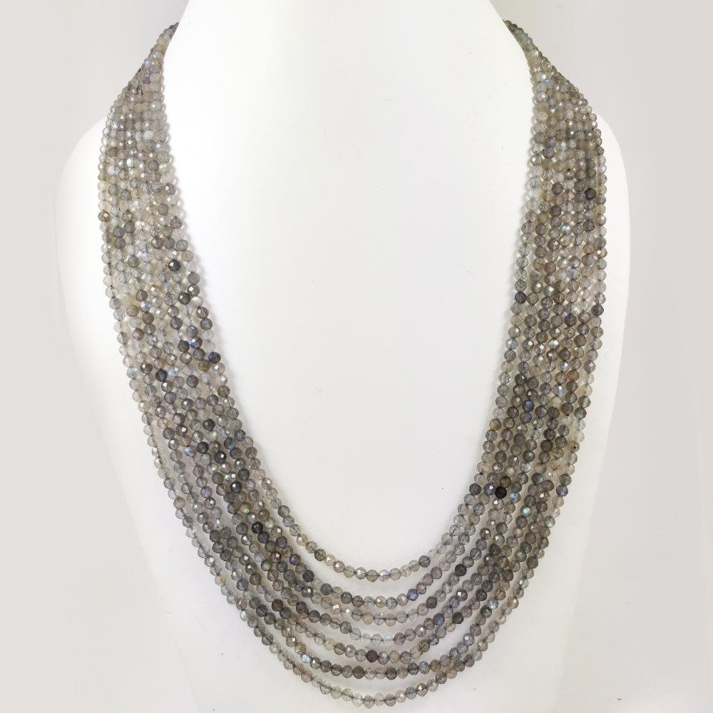 FLASHY LABRADORITE FACETED BEADS NECKLACE 282 CT, 7