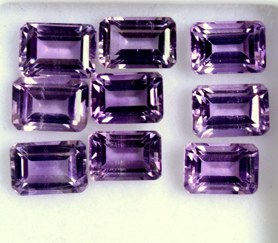 Natural Purple Amethyst 8x10 MM Octagon Cut Loose