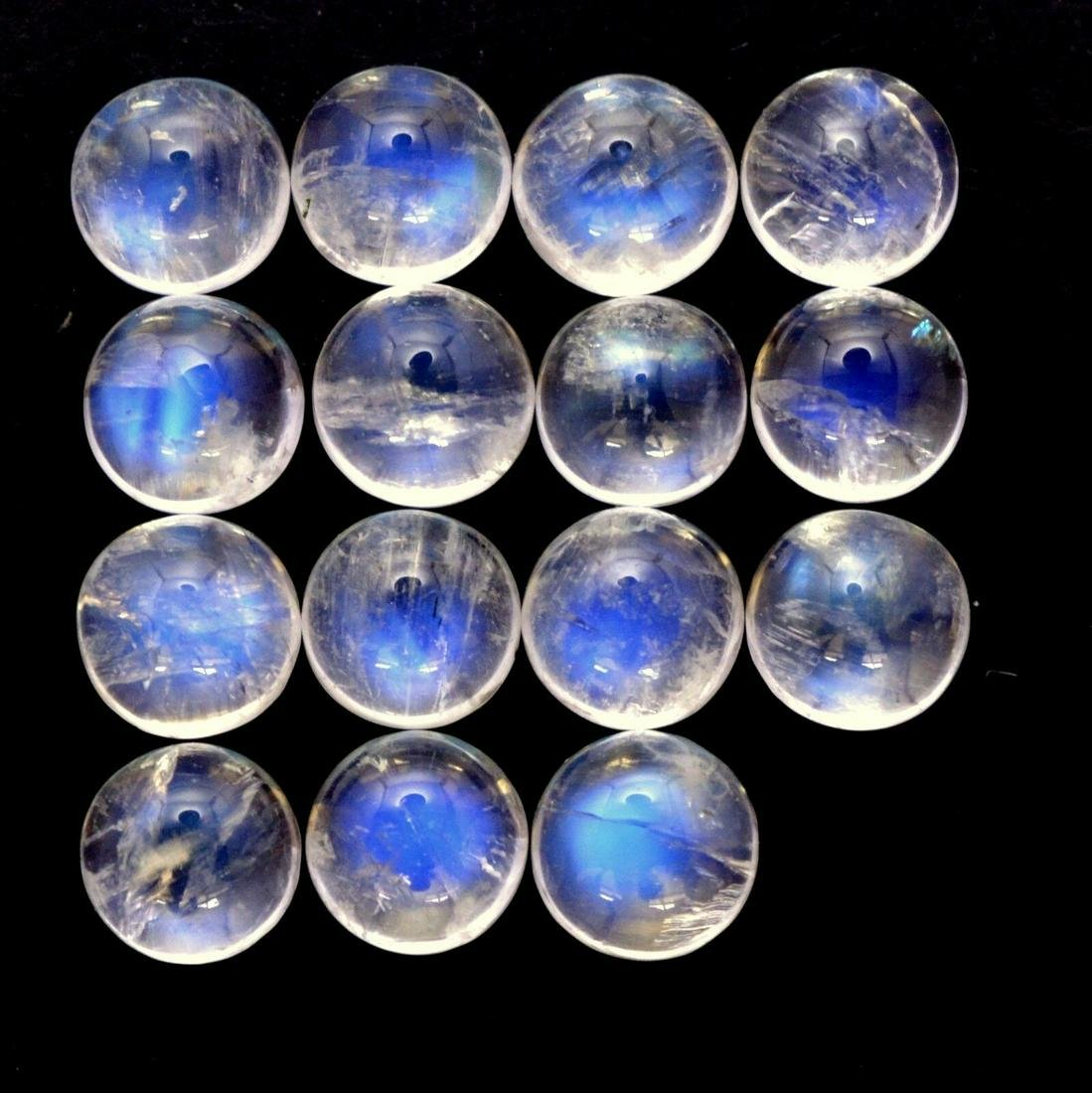 Blue Fire Rainbow Moonstone 5 MM Round Cabochon Loose