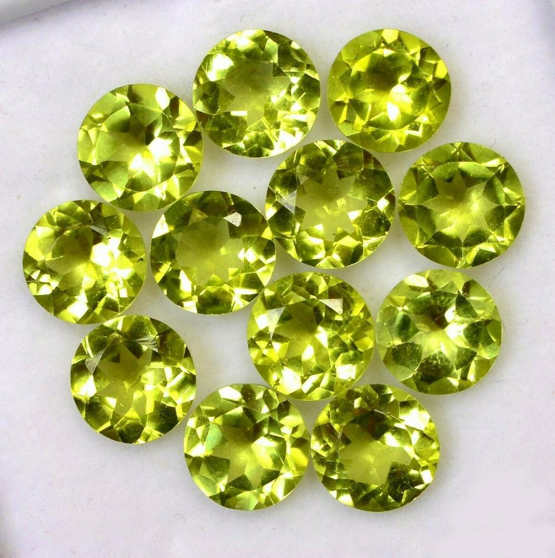 Natural Green Peridot 7 MM Round Cut Loose Gemstone Lot