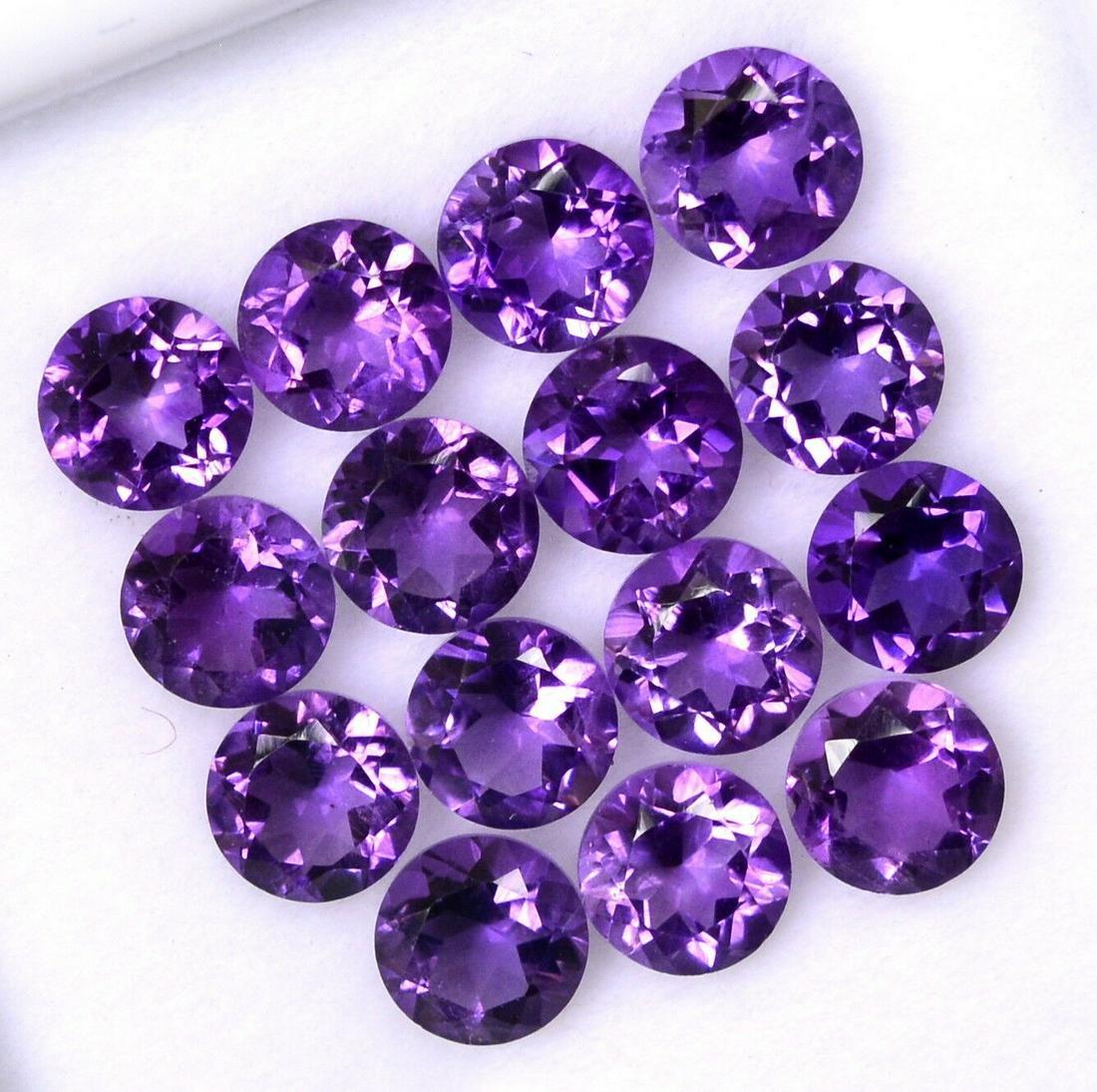 Natural Purple Amethyst 8 MM Round Cut Loose Gemstone