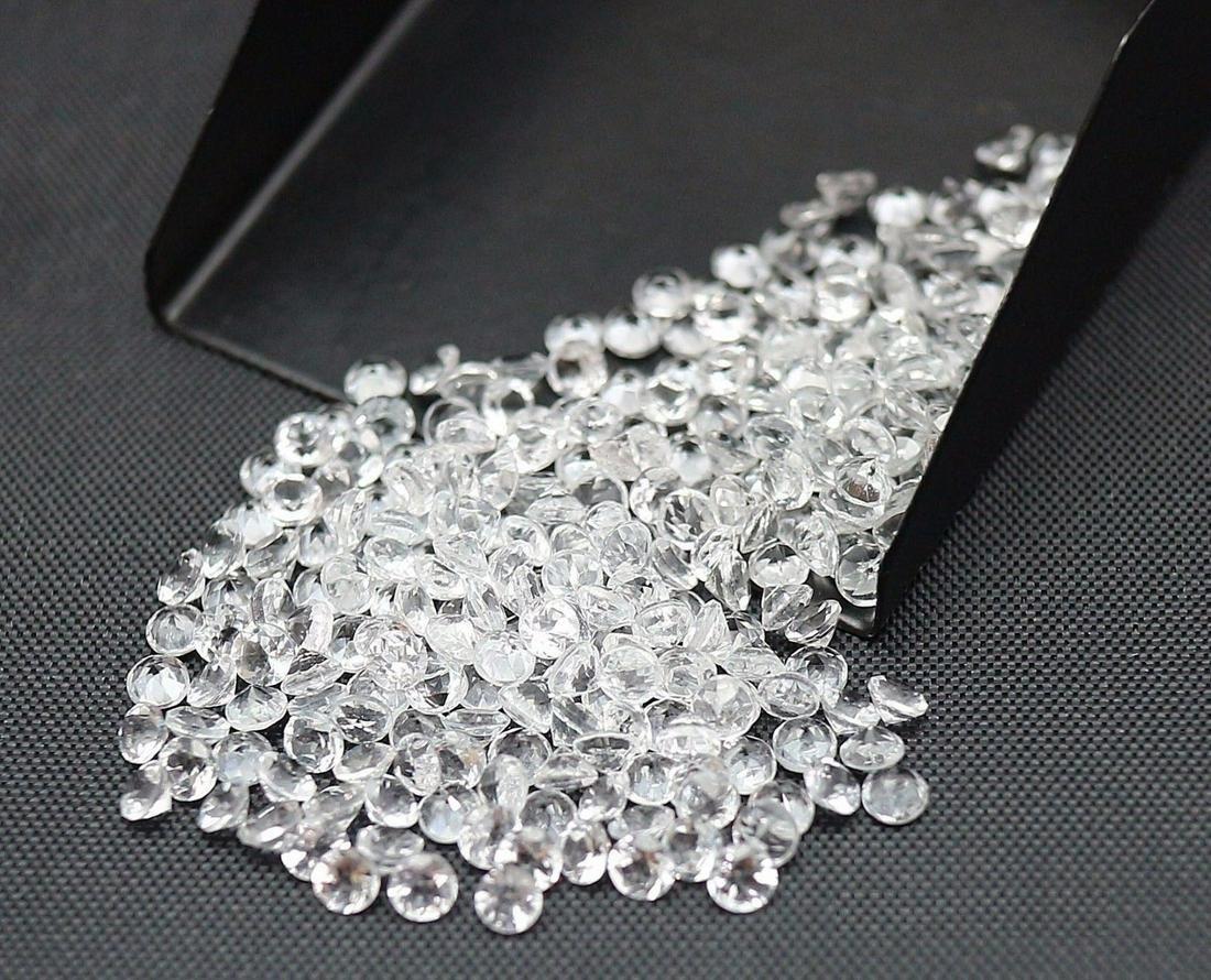 Natural White Topaz 3 MM Round Cut Loose Gemstone Lot