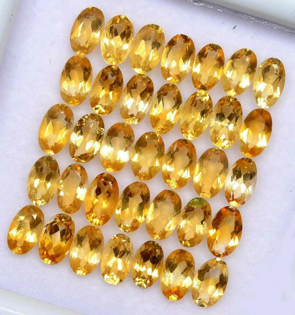 Natural Yellow Citrine 7x5 MM Oval Cut Loose Gemstone