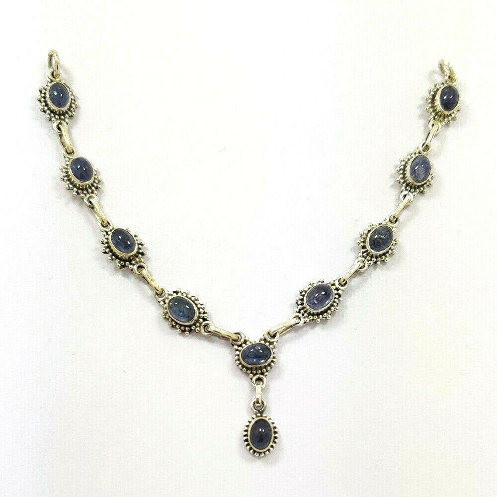 NATURAL TANZANITE 92.5 STERLING SILVER Necklace