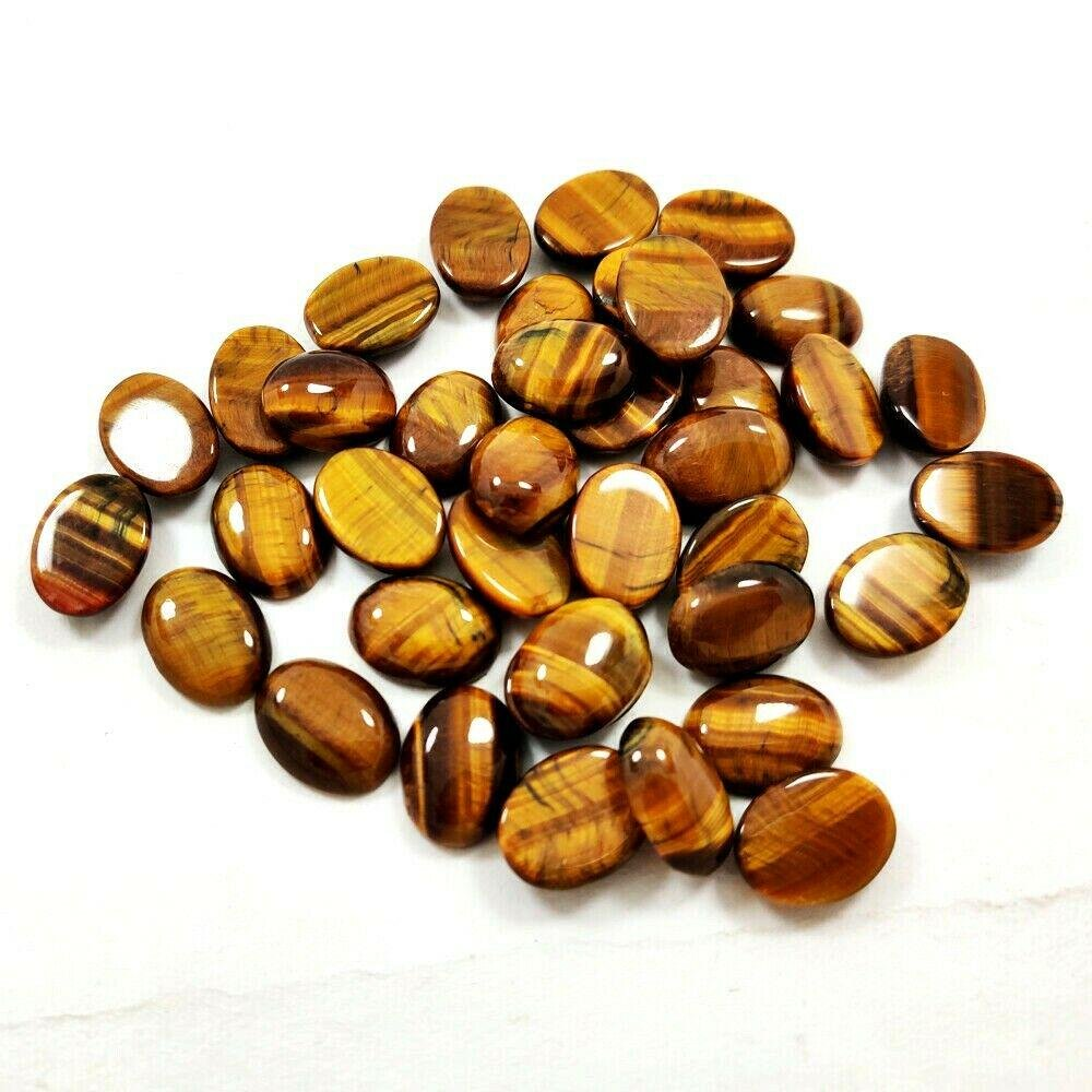 Natural Tiger's Eye 10x12 MM Oval Cabochon Loose