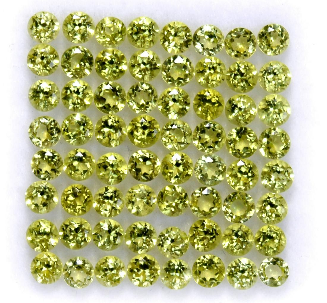 Natural Green Peridot 2.75 MM Round Cut Loose Gemstone