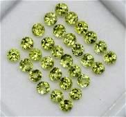 Natural Green Peridot 2 MM Round Cut Loose Gemstone Lot