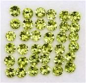 Natural Green Peridot 3 MM Round Cut Loose Gemstone Lot
