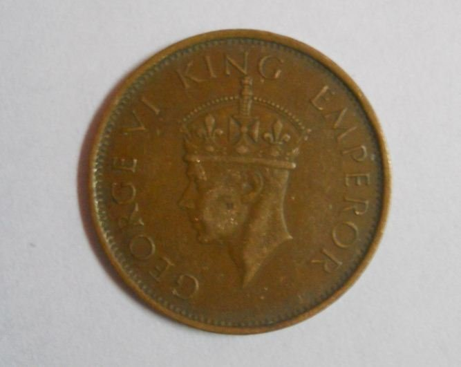 Early Indian One Quarter Anna at the time of Rule of