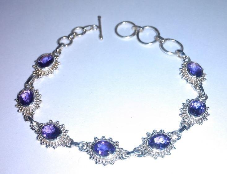 9.280g Bracelet of Amethyst Sterling 925 Silver
