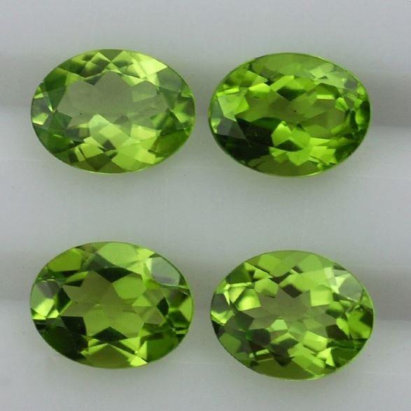 Natural Brazil Peridot 4.85 Ct Oval Cut Stone (4