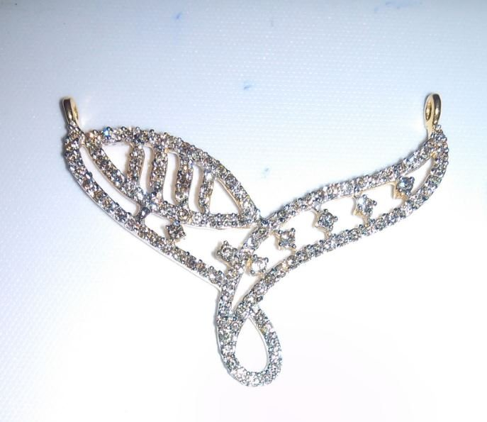 Beautiful 18Kt Gold And Diamond Pendant Gold Weight: