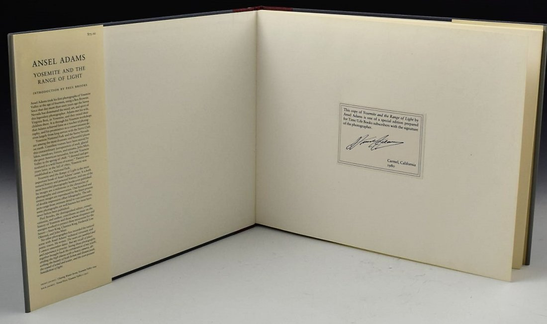 Ansel Adams Signed Book - 3