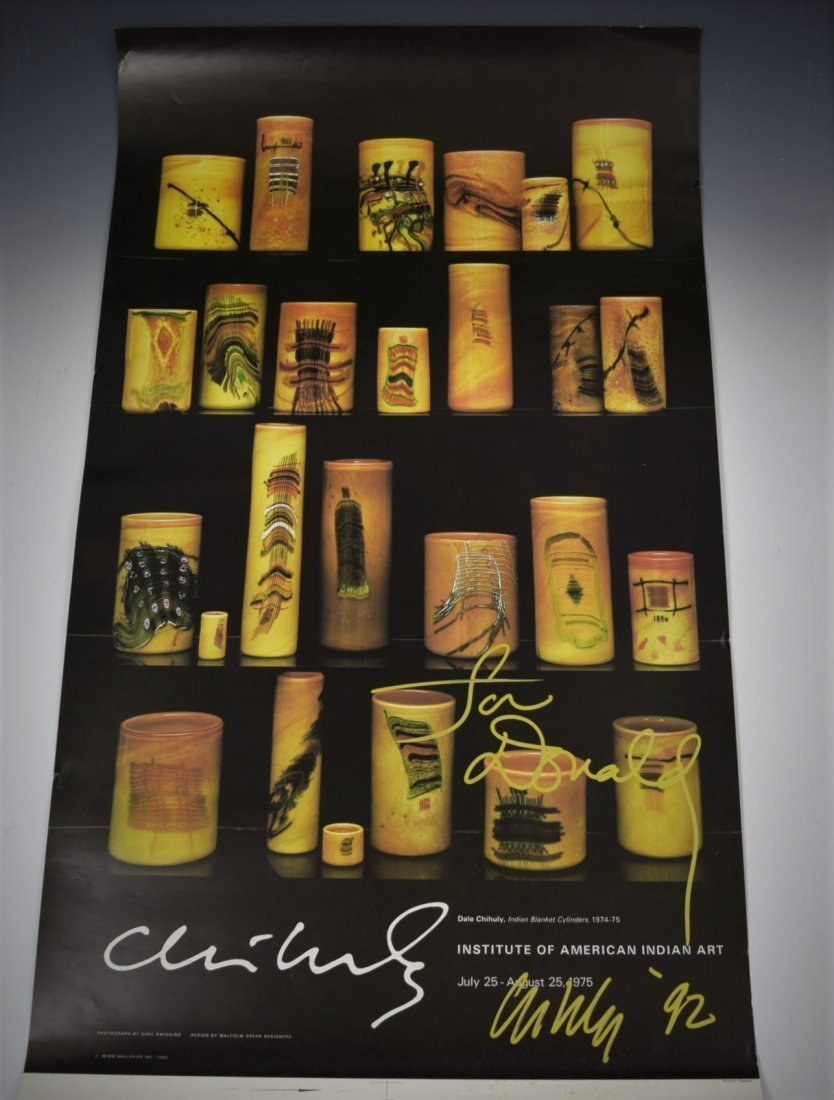 Dale Chihuly Signed Poster