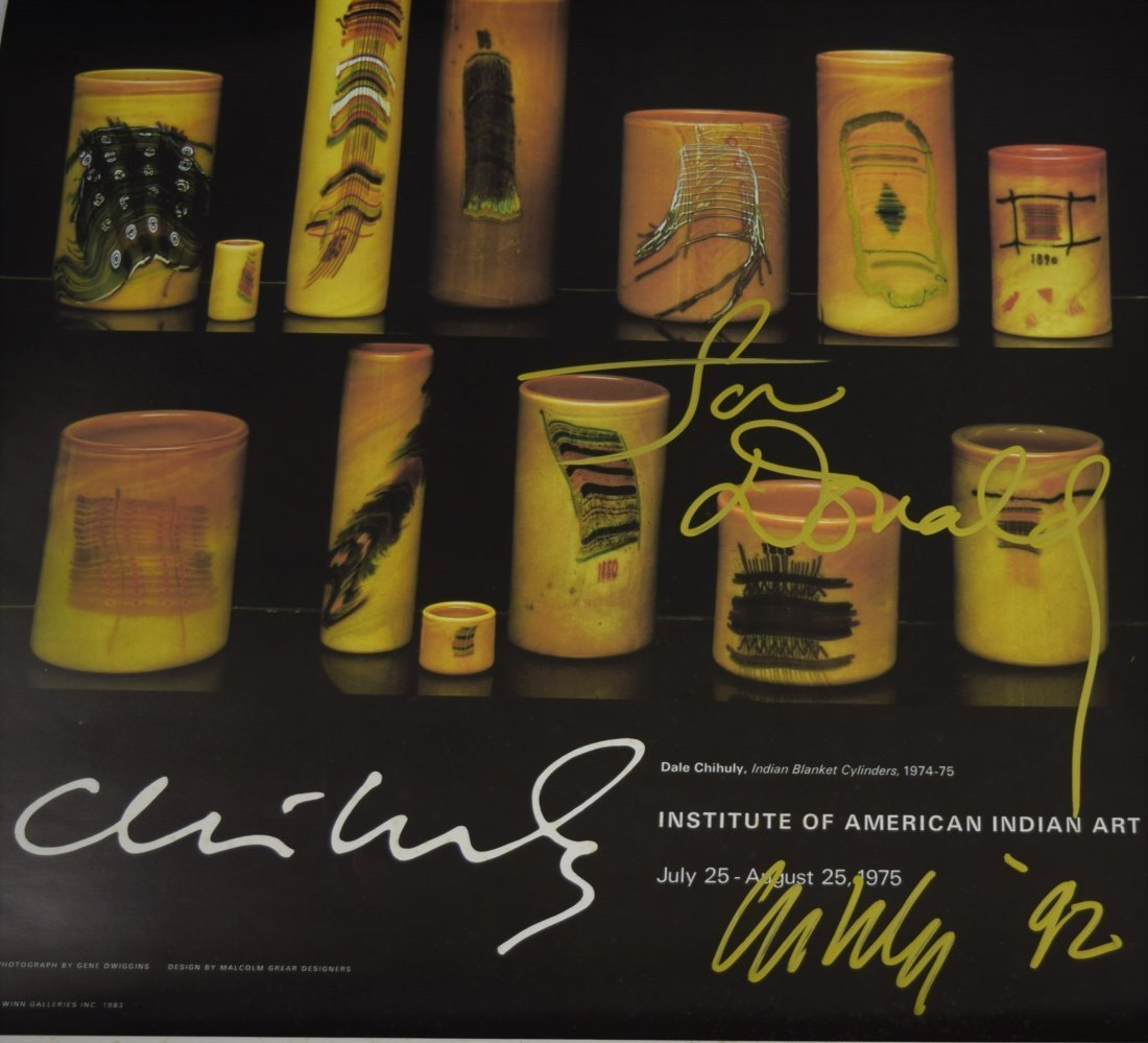 Dale Chihuly Signed Poster - 2