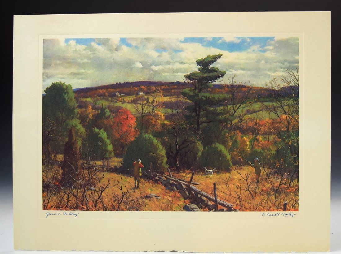 A. Lassell Ripley Print Signed