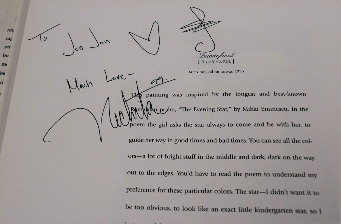 Alexandra Nechita Signed Book - 4