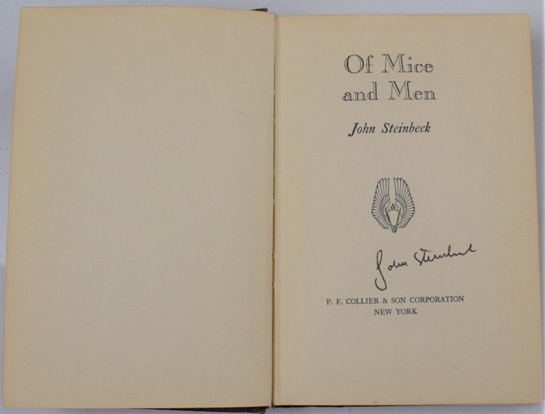 John Steinbeck, Of Mice And Men, Signed Book - 2