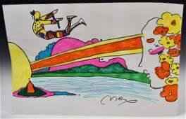 Peter Max Drawing