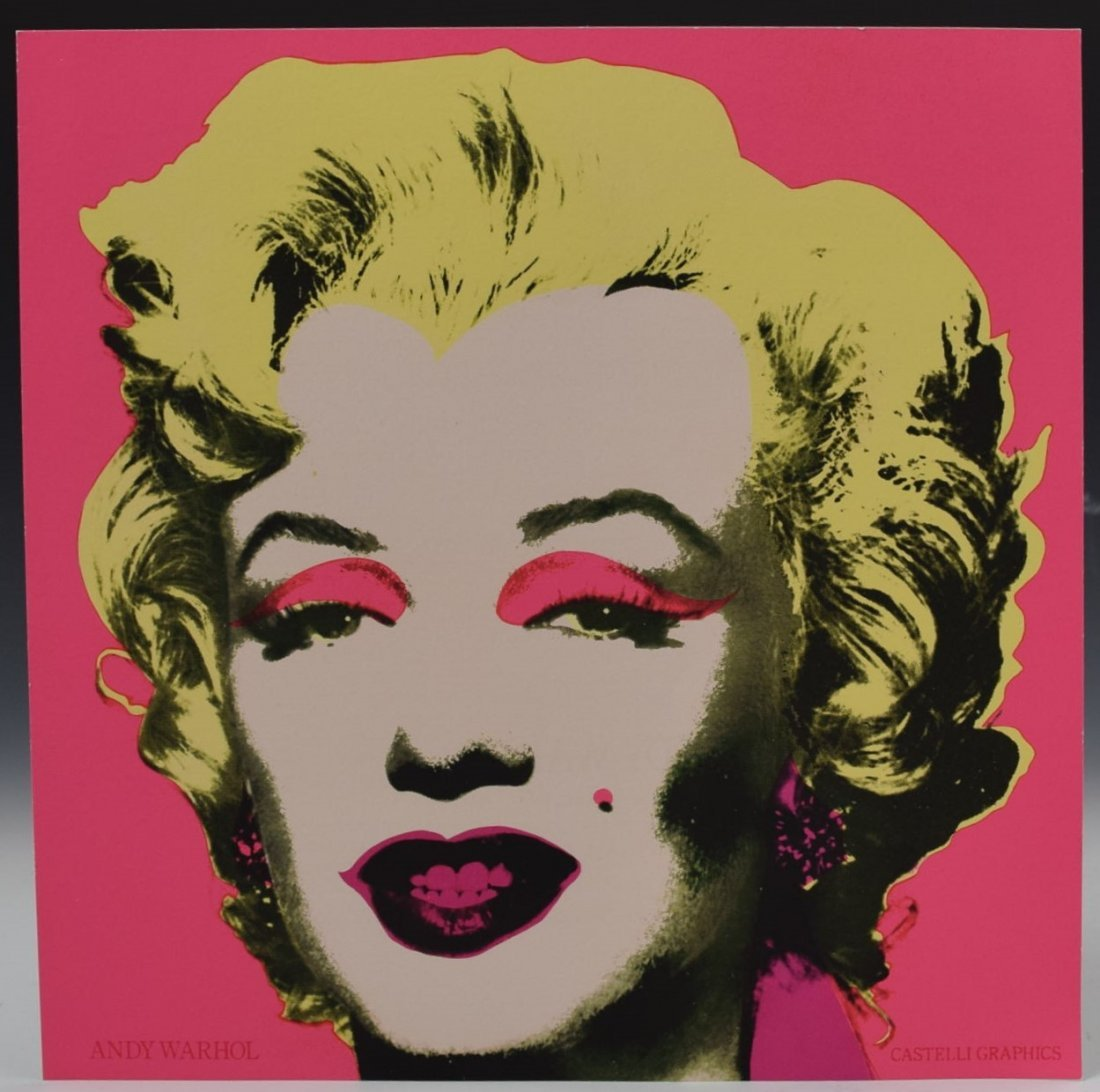 Andy Warhol Marilyn Invitation